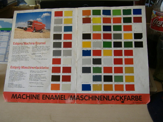 esbjerg maskinmaling farvekort